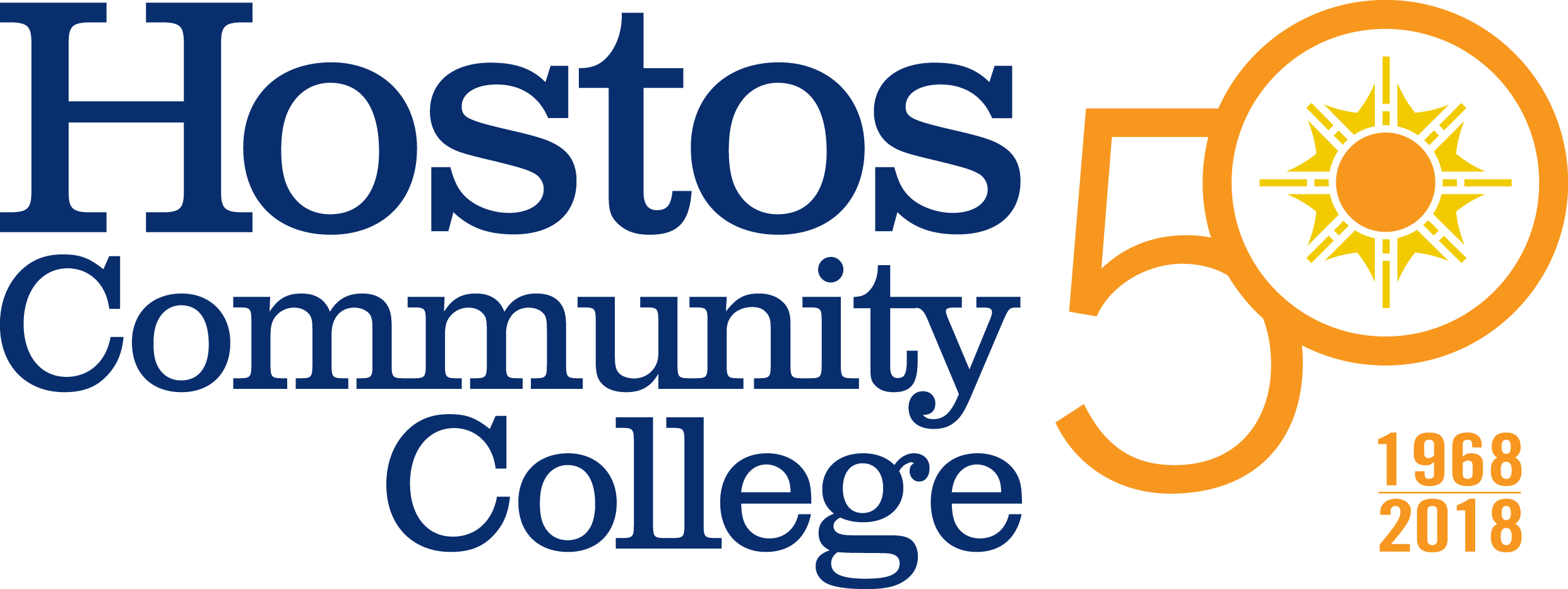 Hostos50PrimaryLogo Blue294Orange144Yellow110copy